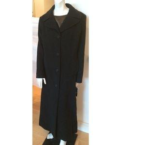 Donna Karan Black Cashmere Wool Coat 14 NWT DKNY